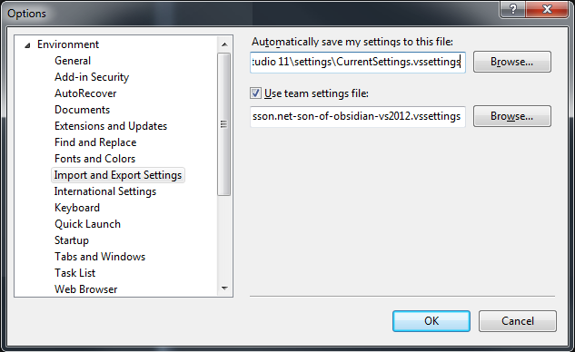 vs-import-export-settings